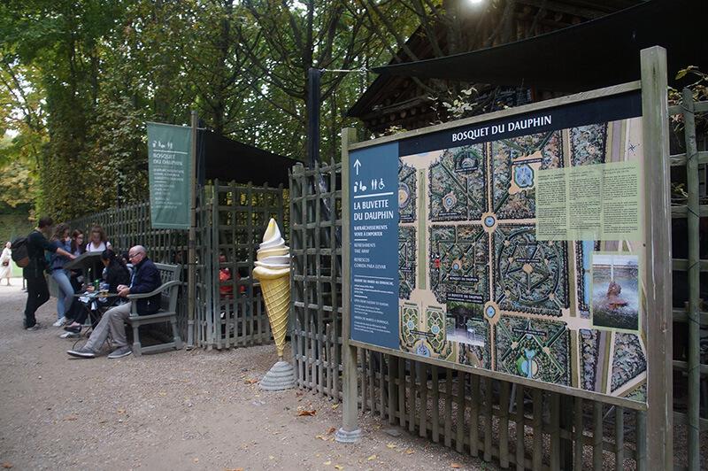 花園迷宮內的冰淇淋小店,花園迷宮地圖