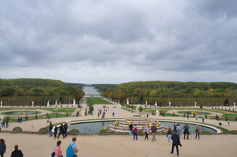 壯闊的凡爾賽宮花園,遠景圖!
