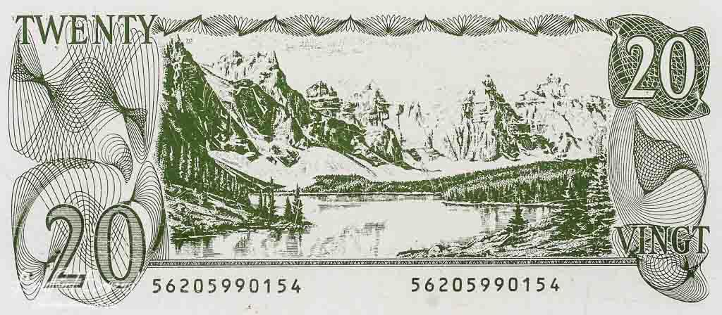 加幣紙鈔上的夢蓮湖