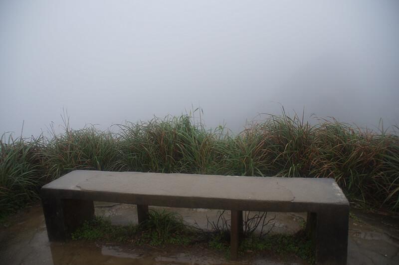 IG抹茶山必出現的長椅!後方是抹茶山