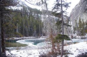 grassi lakes,canmore,canada