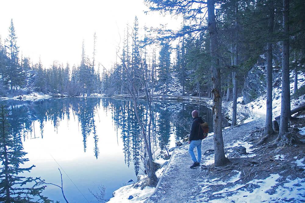 如夢似幻的Grassi Lakes 冬景。