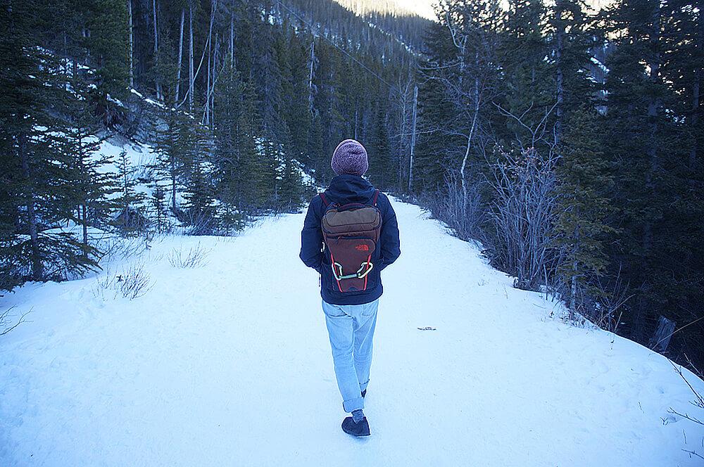 雪地探險,大約走30分鐘離開,要出發去下一個景點囉!