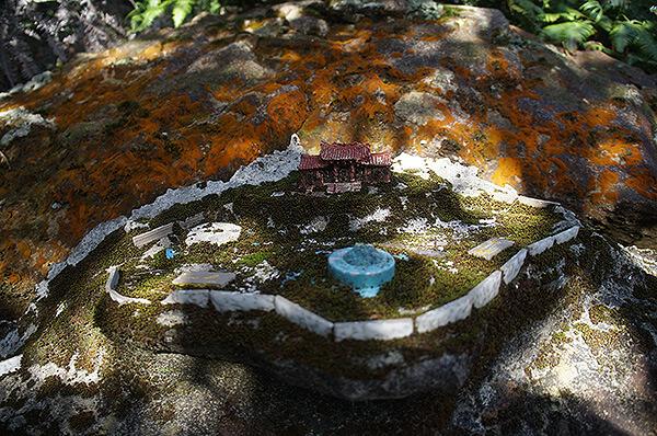 劉老先生的作品,位於鯉魚山沿途步道上。