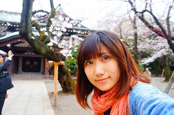 跟櫻花自拍