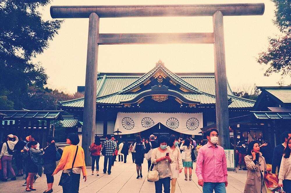 拜殿-靖國神社的主殿。
