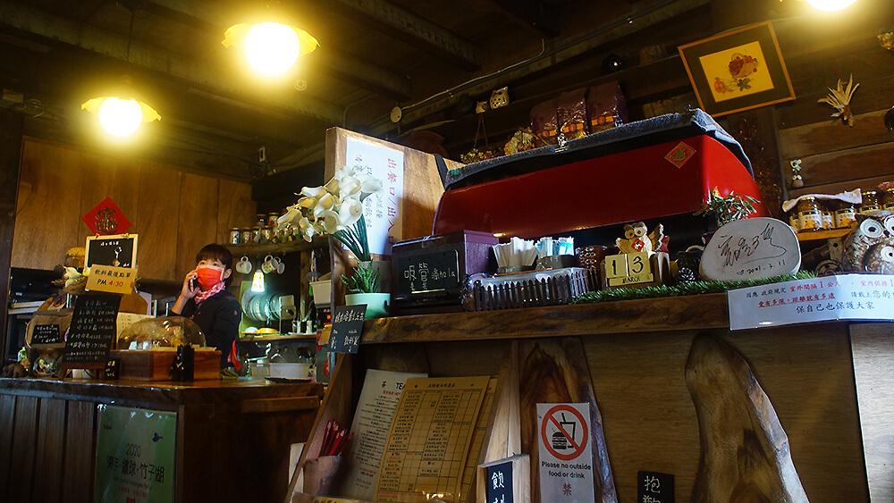 名陽匍海芋園入口處的咖啡廳。