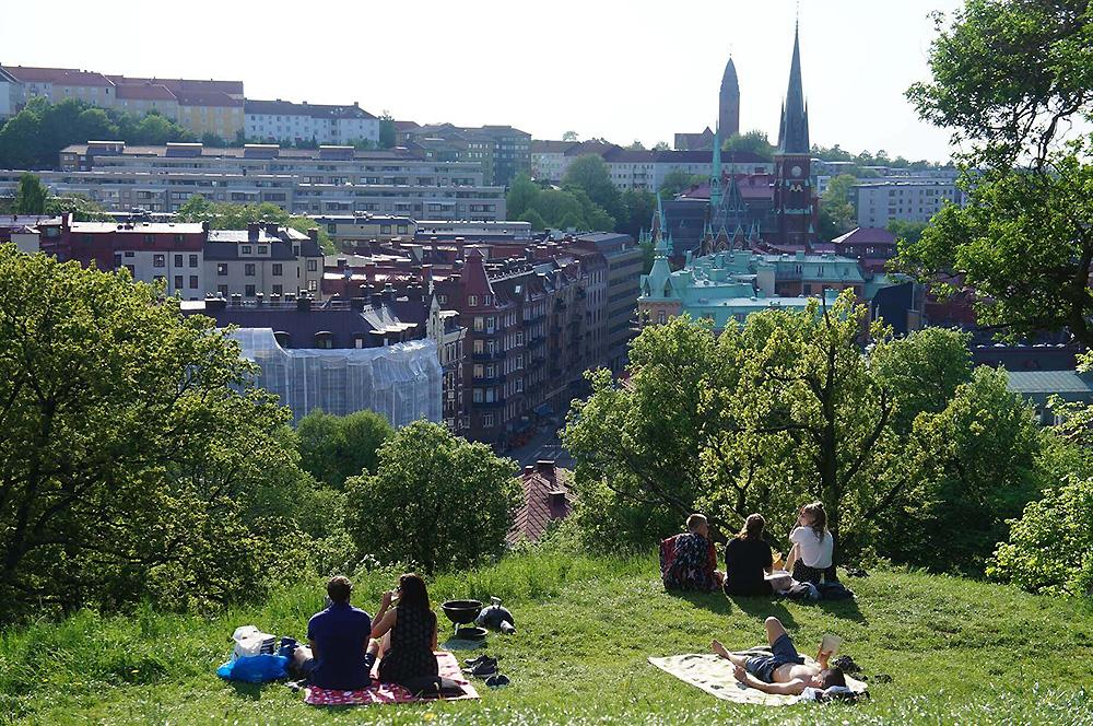 瑞典皇冠城堡高地看出去的風景超美!文青野餐好所在!