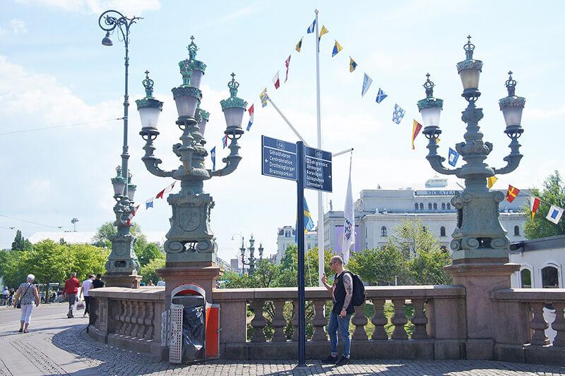 哥特堡大街上的燈飾,也很講究唷!
