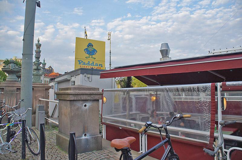 哥特堡市區搭船處,可以找這隻青蛙。
