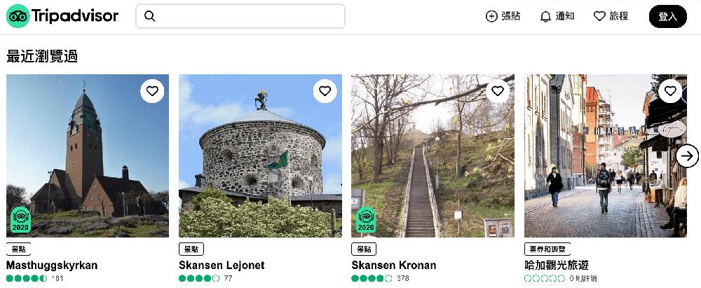 tripadvisor 貓途鷹,也是旅人很常用的OTA平台,景點分類介紹很優秀。