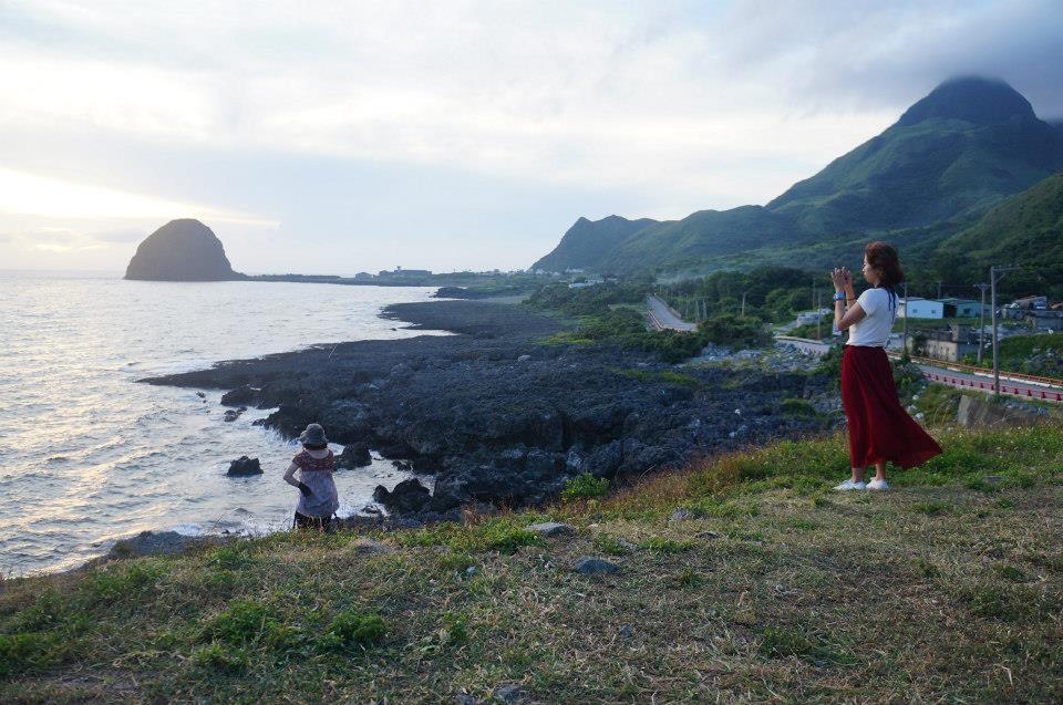 拍海的女孩,2013,虎頭山,蘭嶼。