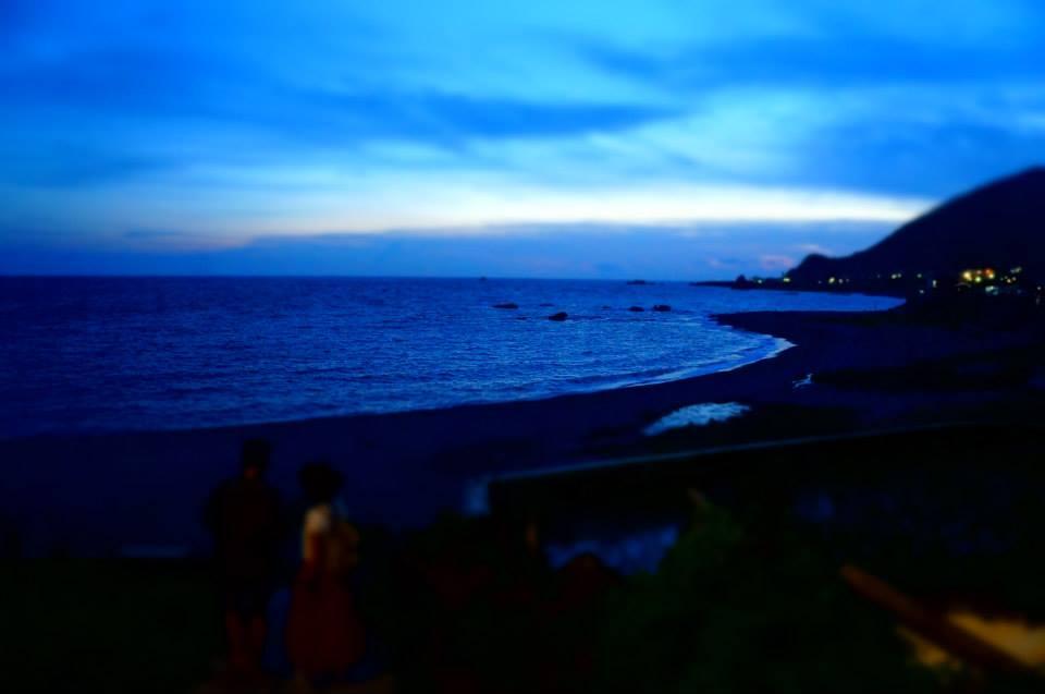 蘭嶼大海,黑夜將至。