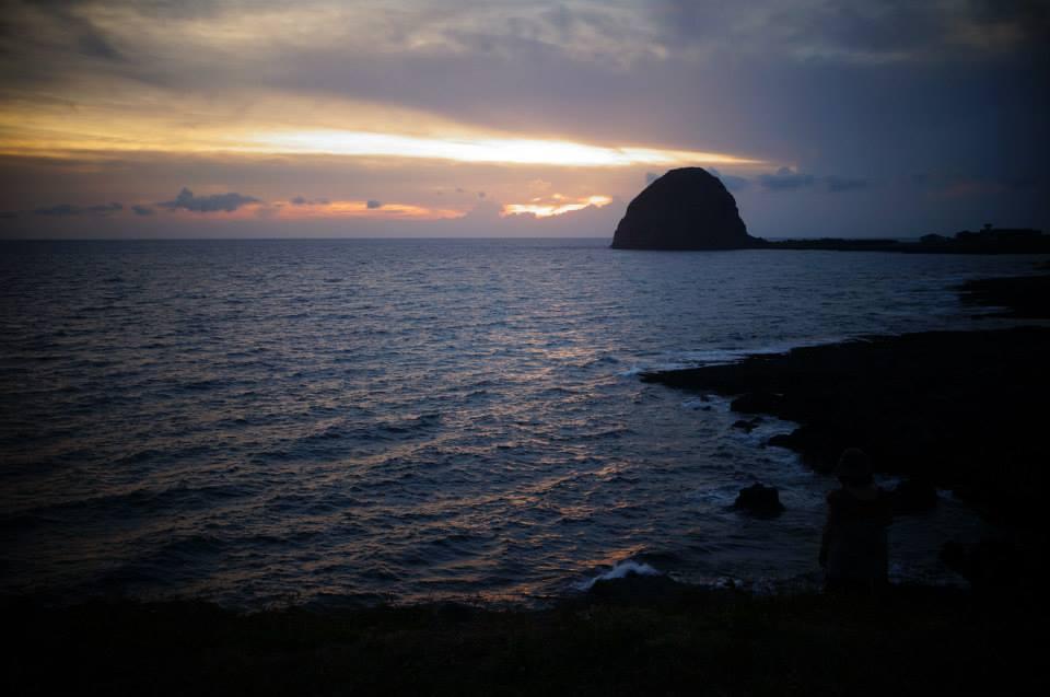 最後一張饅頭山夕陽,黑夜降臨。