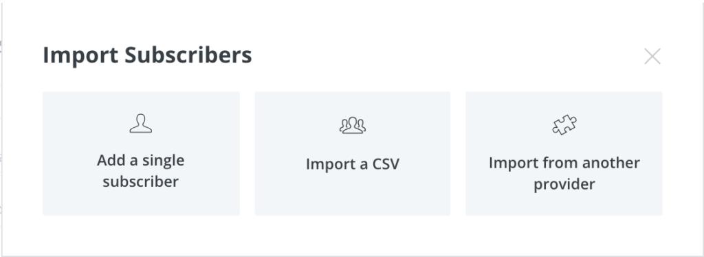 ConvertKit新增訂閱者名單的3種方式。