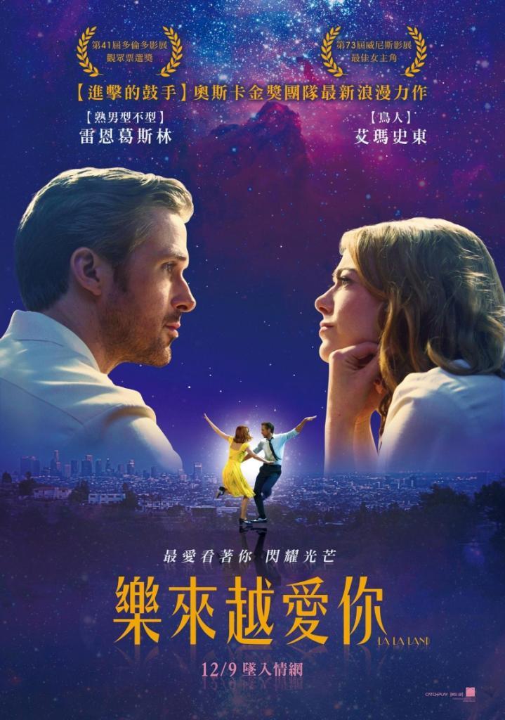 Netflix電影:樂來越愛你(LaLa Land)洛杉磯愛情音樂劇電影 ( IMDb 5.8 )
