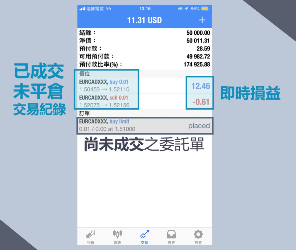 用手機APP就能輕易查看保證金維持率(預付款比率)。